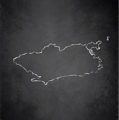 Rio de Janeiro map city blackboard chalkboard vector