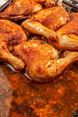 Fried chicken drumsticks.