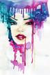 watercolor woman