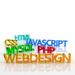 WEBDESIGN, MySQL, PHP, CSS, HTML, JAVASCRIPT, Text, Schrift, 3D