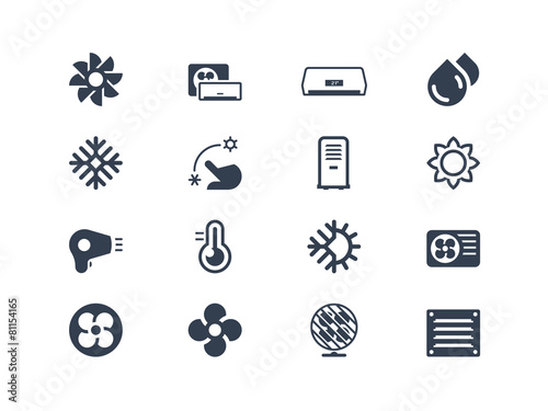 Air conditioning icons - 81154165