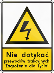 High Voltage On Level Crossing In Poland