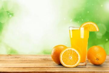 Food. Healthy orange, papaya and carrot smoothie