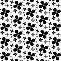 Floral background of black colors on a light background.