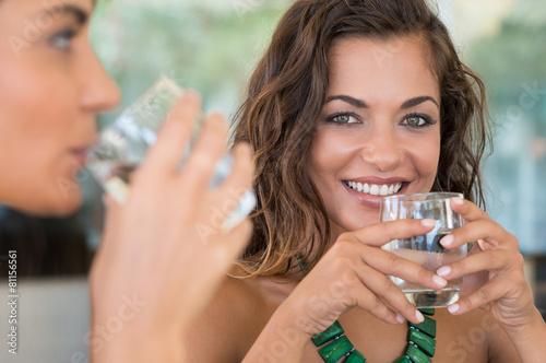 Girls Drinking Water