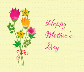 Happy Mothers Day celebration with flower