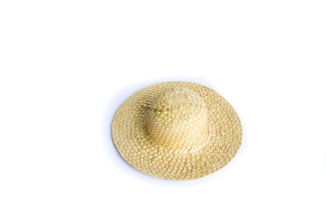 Weave hat on white background