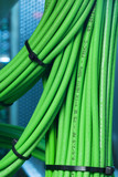 Network cables green tapered Binder poster