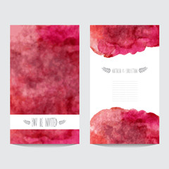 watercolor cards set