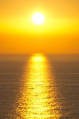 Famous sunset in Perlouades village - Corfu, Greece