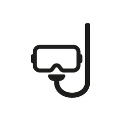 The scuba mask icon. Diving symbol. Flat
