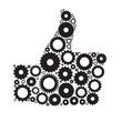 Gear Hand  Icon Vector Illustration