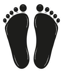 Fussabdruck, footprint