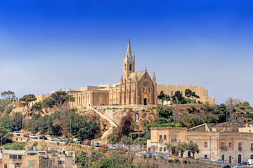 Parish church in Mgarr on Gozo Island Malta