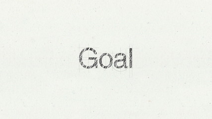 Text animation 'Goal' for presentations(included Alpha)