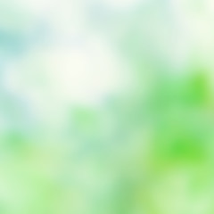 Natural Spring Green and Blue background with abstract defocused