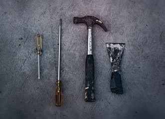 Old dirty tools