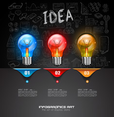 Infographic Layout for Brainstorming Concept background