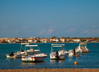 Fishing boats  in the Ionian sea