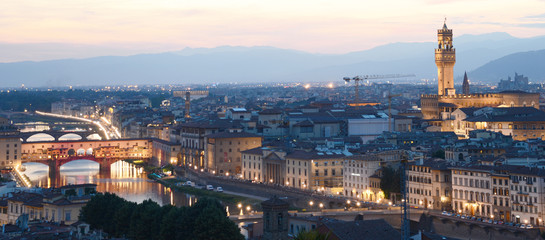 Evening in Florence, Italy