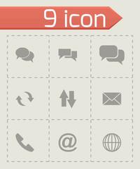 Vector black communication icon set