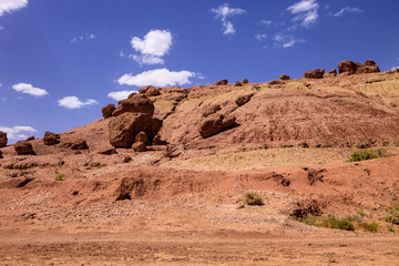 arid landscape in the mountains of the High Atlas, Morocco