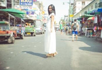 thai girl in Khao san road
