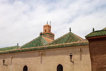 green roofs covered with ceramic tiles, Morocco