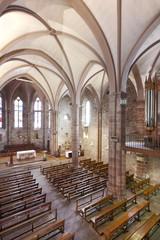 Notre Dame Du Bout Du Pont church interior in France