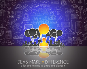 Teamwork Brainstorming communication concept art.