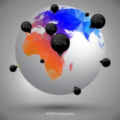 earth globe infographic