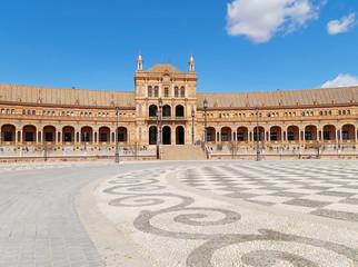 Spanish Square (Plaza de Espana) in Sevilla, Spain