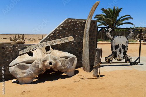 Leinwandbild Motiv Skeleton coast gate