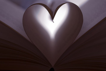 Heart shaped page