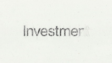 Text animation 'Investment' for presentations(included Alpha)