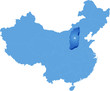 Map of People's Republic of China - Shanxi province