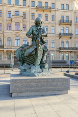 "Monument to Peter the Great ""King carpenter"" in Saint-Petersburg"