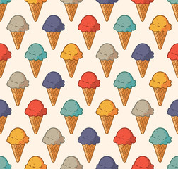 vintage ice cream pattern