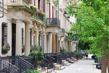 New York brownstone in Upper West Side
