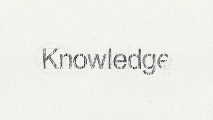 Text animation 'Knowledge' for presentations(included Alpha)