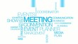 Meeting convention event planner word tag cloud events