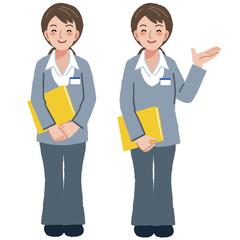 ケアマネージャー Geriatric care manager in different gestures