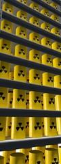Verticale afbeelding - opslag radioactief materiaal