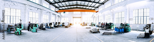 factory workshop interior and machines - 81169932