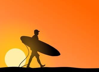 Surfer Sonne