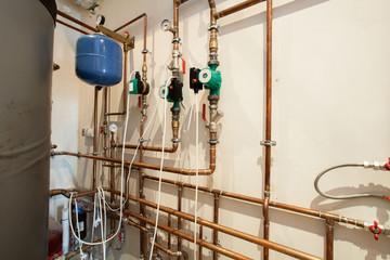 Waterpipes in basement