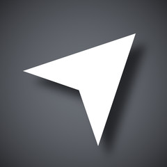 Vector navigation arrow icon
