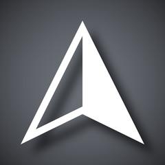 Vector gps arrow icon