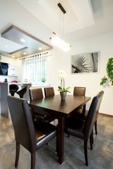 Eating area in modern house