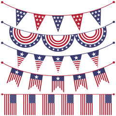 USA patriotic buntings